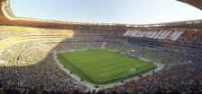 Soccer City: a wonderful stadium. I know, I've 'been' there.